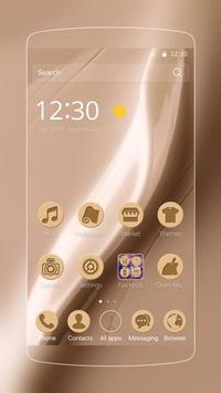 Golden silk luxury launcher poster