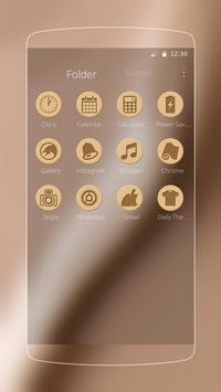 Golden silk luxury launcher apk screenshot