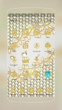 Golden White Flower apk screenshot