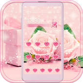 Pink Rose Theme love story icon