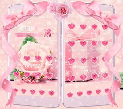 Pink Rose Theme love story poster