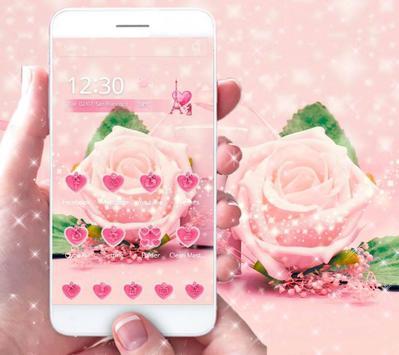 Pink Rose Theme love story apk screenshot