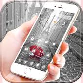 Rain Paris Theme icon