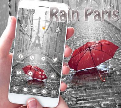 Rain Paris Theme poster