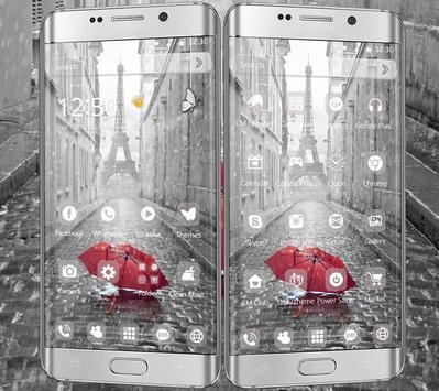Rain Paris Theme apk screenshot