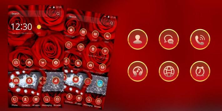 Rose Heart Diamond Luxury apk screenshot
