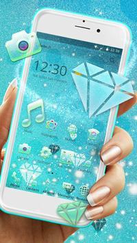 Frozen Blue Iced Diamond Theme poster