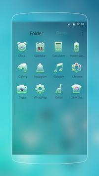 Frozen Blue Iced Diamond Theme apk screenshot