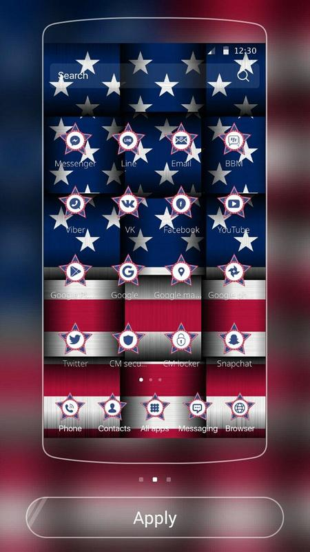 american flag theme us flag apk download free personalization app