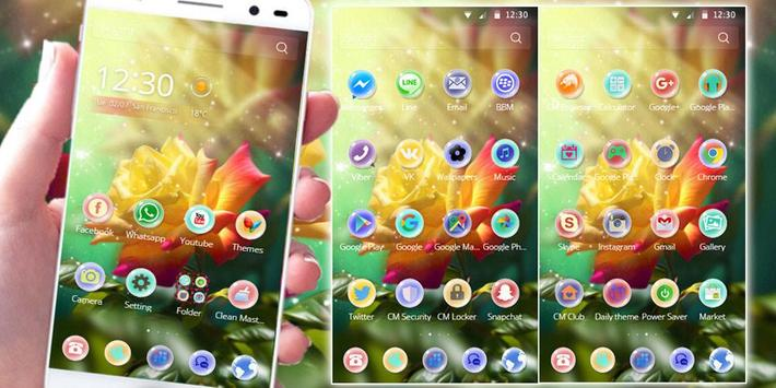 Rose Flower Theme love rose apk screenshot