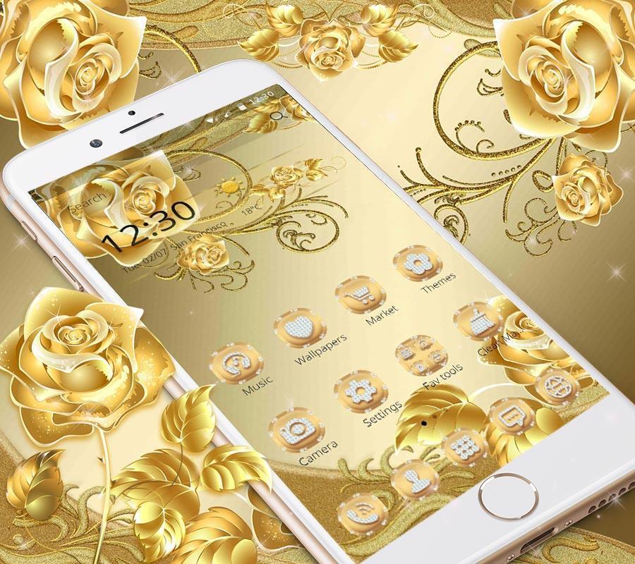 Картинки на смартфон золото