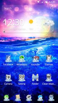 Theme Sunny Blue Sea apk screenshot