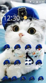 Cat Theme Blue Mantle of Uniformed Hat poster