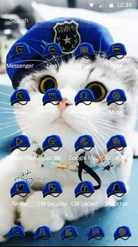 Cat Theme Blue Mantle of Uniformed Hat screenshot 1