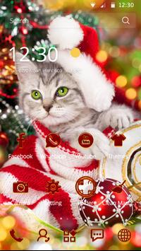merry christmas cat cute theme poster - Merry Christmas Cat