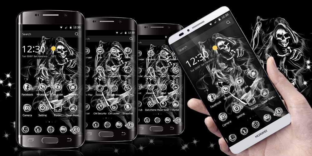 Skull Grim Reaper Smoke Theme for Android - APK Download