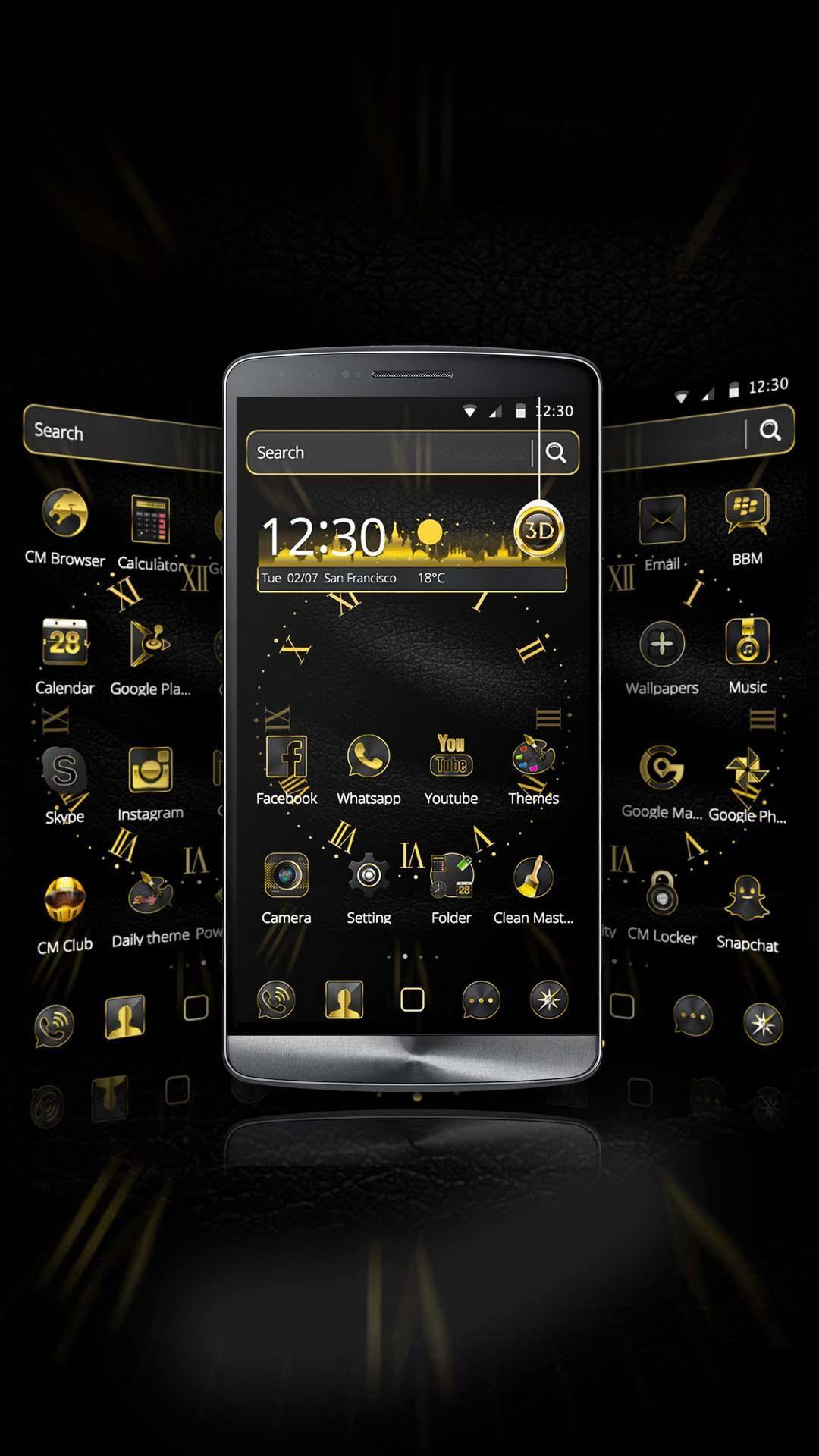 Android 用の ビジネステーマの壁紙黒い金の高級時計 Apk をダウンロード