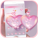Tình yêu màu hồng chủ đề APK