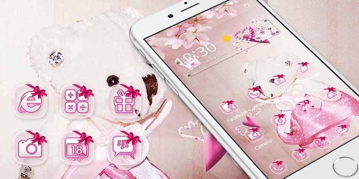 Pink Princess Bear Theme screenshot 3