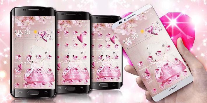Pink Princess Bear Theme screenshot 1