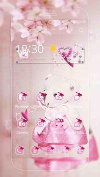 Pink Princess Bear Theme screenshot 2