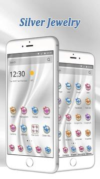 Silver White Jewellery Theme screenshot 1