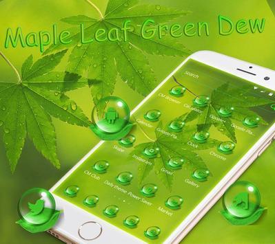 Maple leaf green dew Theme screenshot 1