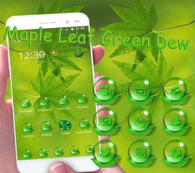 Maple leaf green dew Theme screenshot 2