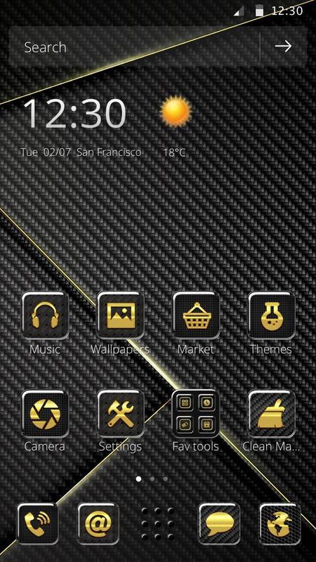 hi tech carbon fiber theme for android apk download