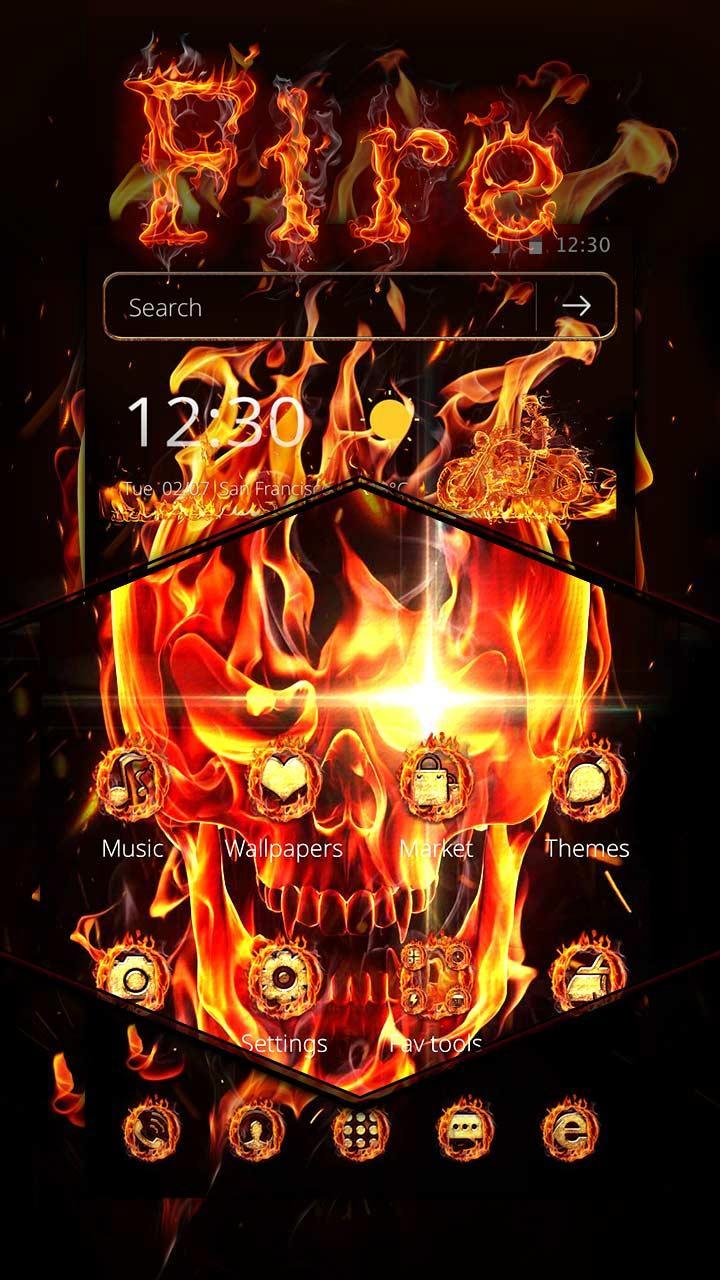 Fire Skull Theme For Android Apk Download