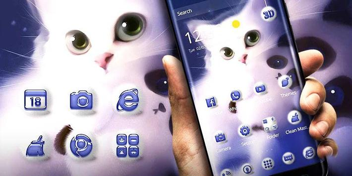 Cute Kitty Theme & Wallpapers apk screenshot