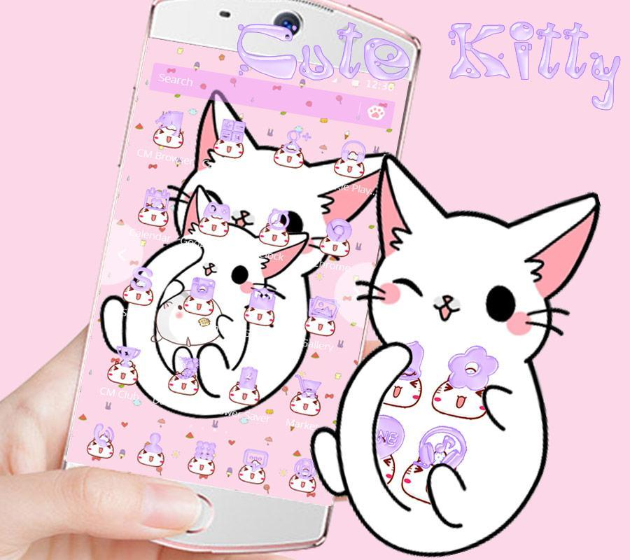 Imut Kartun Kucing Tema For Android Apk Download