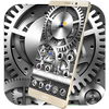 Silver Mechanical Gears Theme أيقونة
