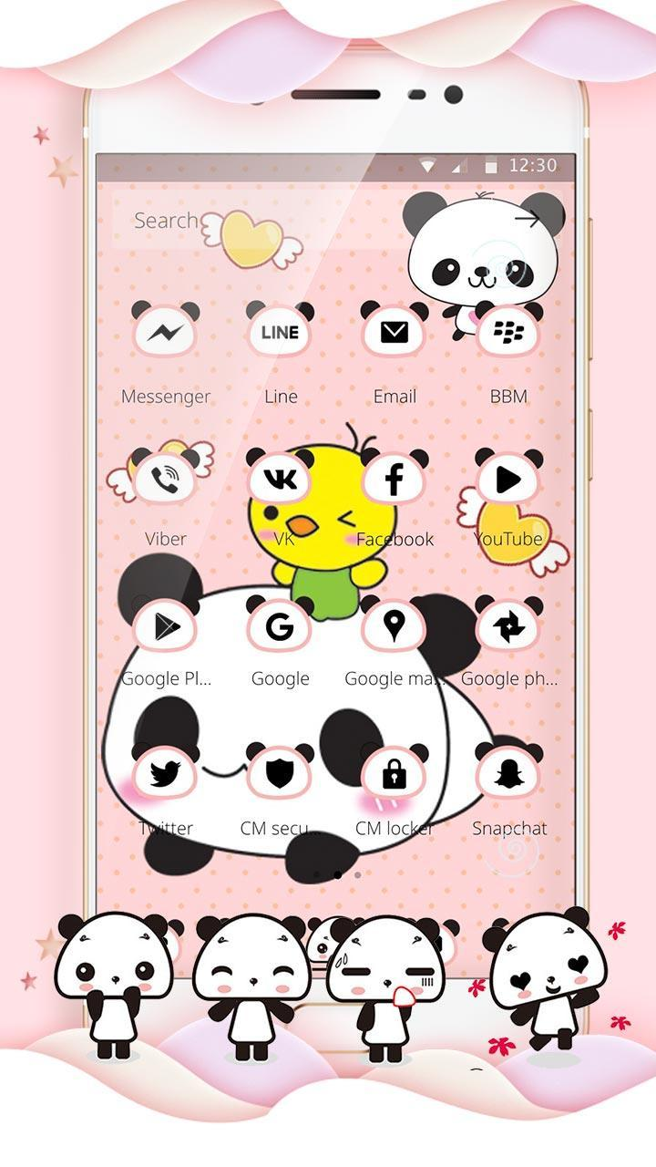 Pink Lovely Panda For Android APK Download