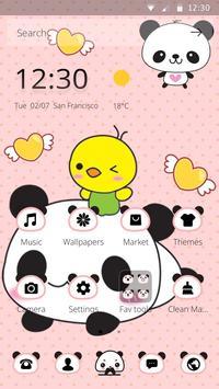 Pink Lovely Panda Cute Theme Apk Screenshot