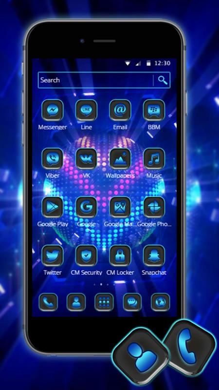 Bright Led Lights 2d Android Theme Wallpaper For Android Apk