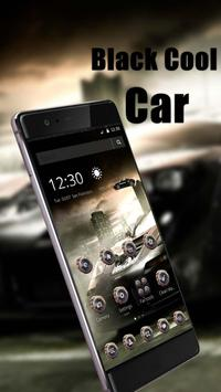 Black Cool Car Theme and Live wallpaper poster