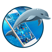 Ocean seaworld dolphin 2d (free)Theme icon