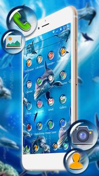 Ocean seaworld dolphin 2d (free)Theme apk screenshot