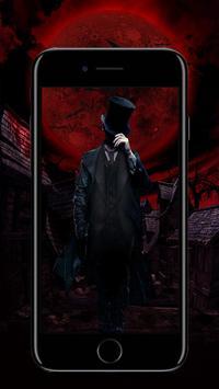 Cool Red Male Vampire On Moon Light Blood Theme apk screenshot