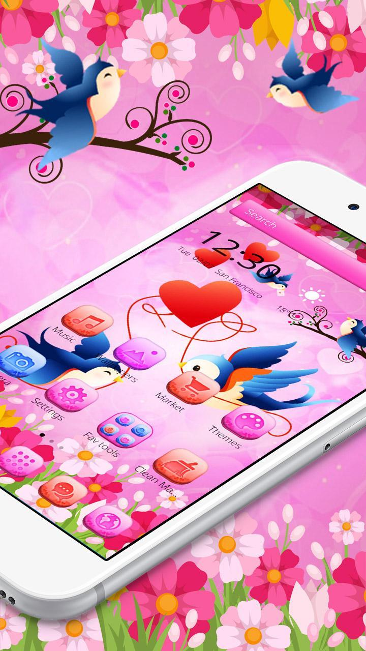 Cute Love Birds Theme And Live Wallpaper For Android Apk Download