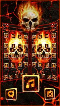 Flaming Fire Skull Theme poster