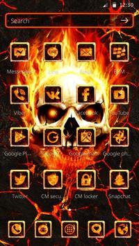 Flaming Fire Skull Theme screenshot 2