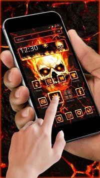 Flaming Fire Skull Theme screenshot 4