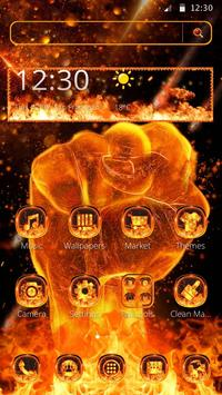Fire Fist Mobile Theme poster