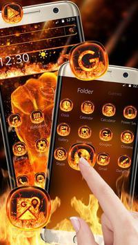 Fire Fist Mobile Theme apk screenshot