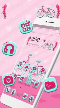 Cute Pink Bicycle Theme & Live Wallpaper poster