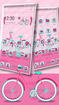 Cute Pink Bicycle Theme & Live Wallpaper screenshot 1