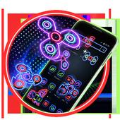 Neon Fidget Spinner Player 2D Theme icon