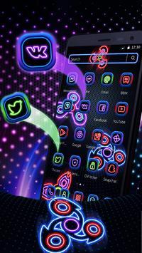 Neon Fidget Spinner Player 2D Theme apk screenshot